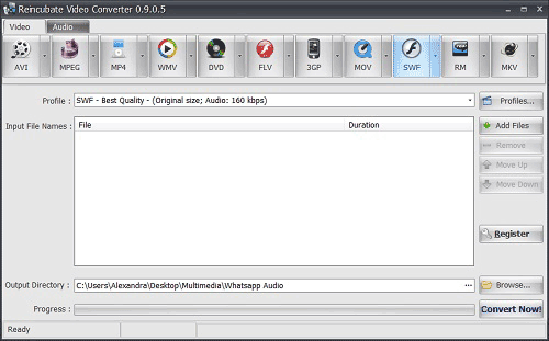 Reincubate Video Converter interface
