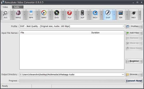 Reincubate Video Converter interface