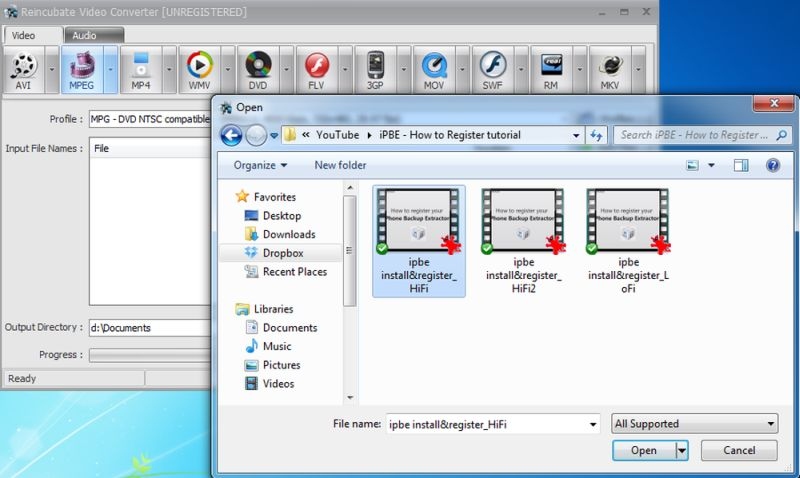 video converter add files button