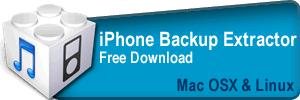 iPhone Backup Extractor - Mac OX and Linux