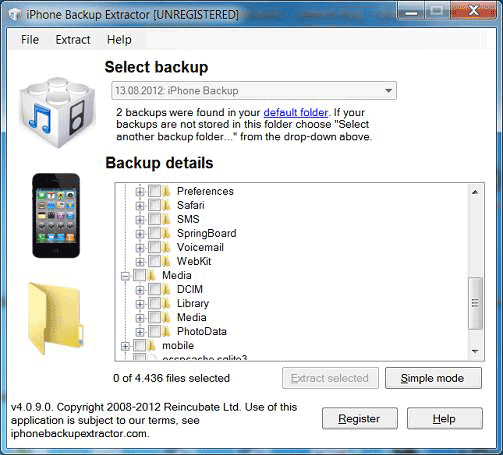 Access Expert Mode Data in iPhone Backup Extractor