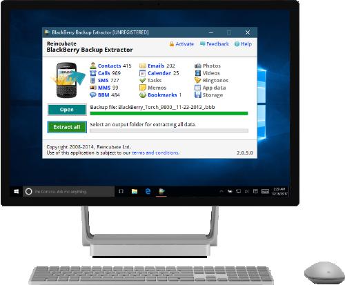 blackberry backup extractor free registration key